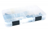 Clips and small parts storage box with 21 compartments