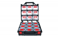 Clip storage cabinet with 18 compartments