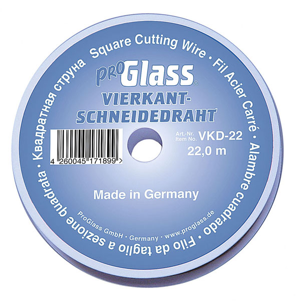 ProGlass Cut-Out Wire VKD, squared 0.6 x 0.6 mm, 22 m on plastic ...